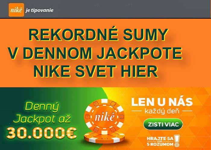Hrajte o jackpot v nike online kasino | Denný Nike jackpot padá každý deň