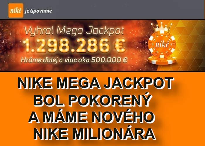 Nike Online Kasino urobilo šťastlivca milionarov v Mega Jackpote