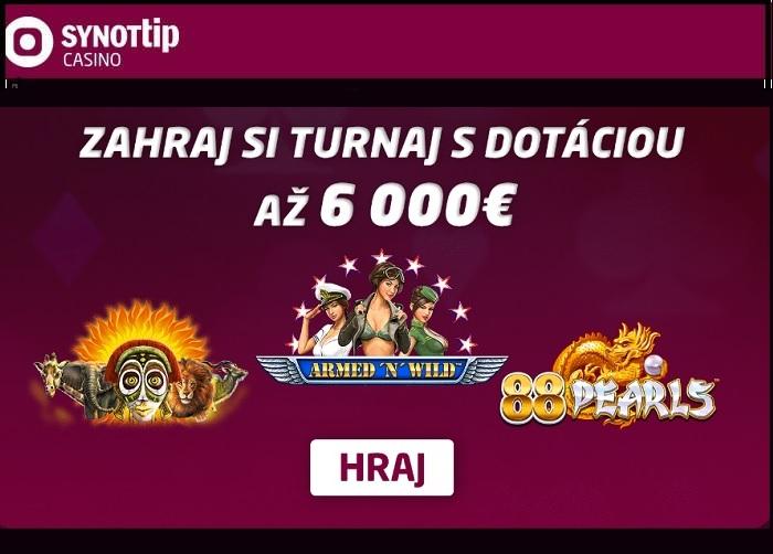 SynotTip kasino turnaj č.3 v hraní online automatov | hrajte Synot tip kasino