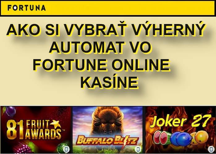 Fortuna online automaty s vyššou výhernosťou RTP | casino-online.sk